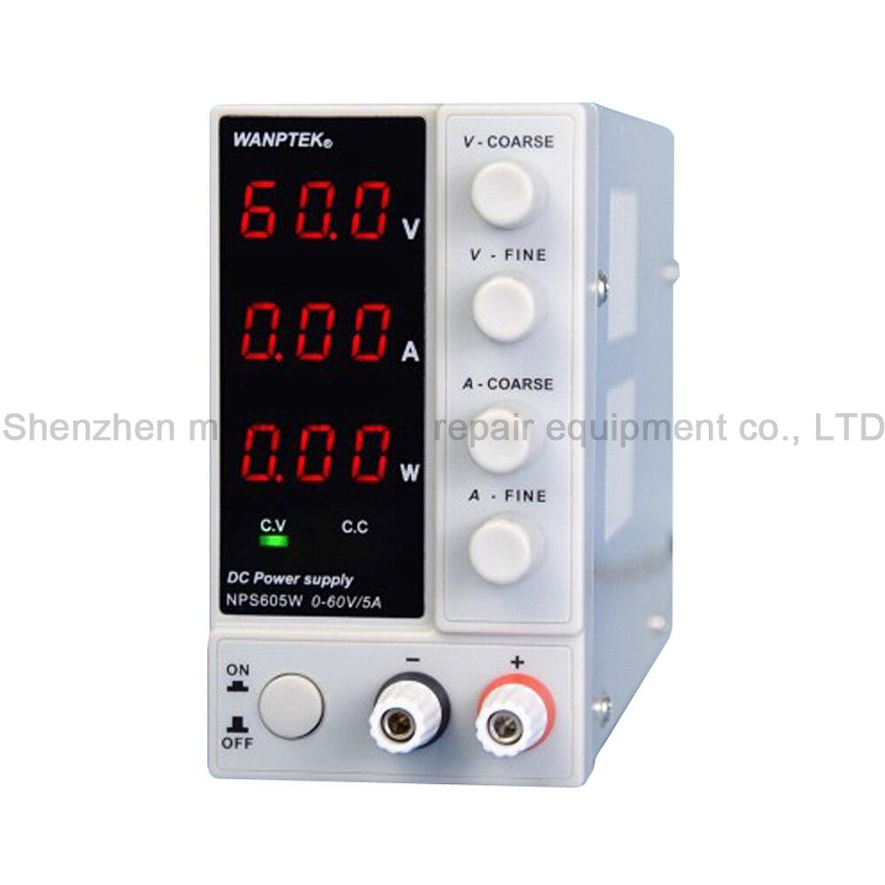 NPS605W 60V 5A Mini alimentation numérique réglable en courant continu alimentation de laboratoire avec affichage de courant de tension d'alimentation