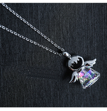 New Guardian angel 2 Color Crystal from Swarovski Maxi Necklace Collier Wholesale Fashion Jewelry 925 silver Name Bead(China)