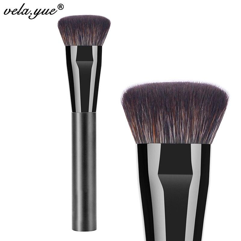 Professional Flat Contour Brush Premium Face Blending Highlighting Makeup Brush mint flat contour makeup brush