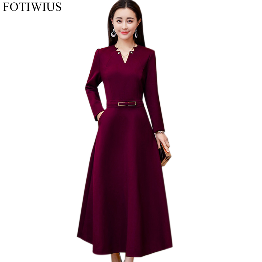 Autumn Dress Women Long Sleeve Elegant Vintage Dress High Quality Women Fashion 2018 Ladies Office Dresses Plus Size Vestidos