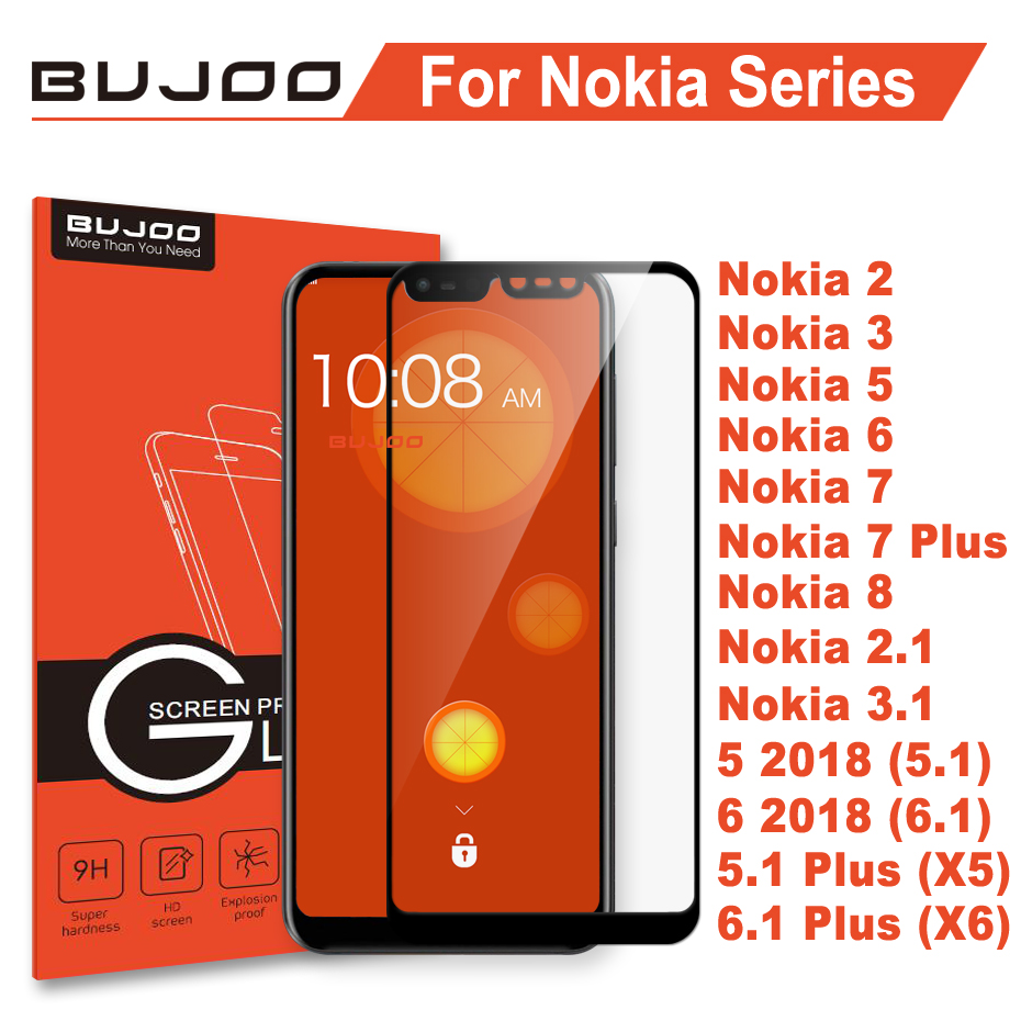100% BUJOO Real 2.5D Screen Protector Tempered Glass For Nok