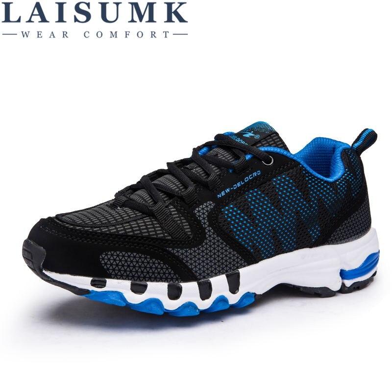 2018 LAISUMK Autunno Tempo Libero Uomo Scarpe 47 48 Uomini Mesh + Sintetico Morbido Leggerezza Studente Scarpe Moda Scarpe Casual Uomo Sneakers