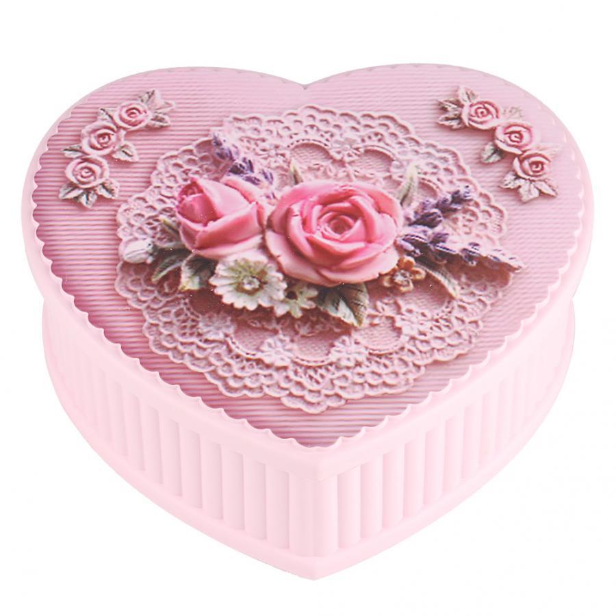 Beautiful Rotating Ballerina Music Box Jewelry Storage Box Birthday Gift For Girls