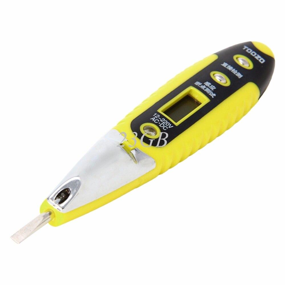 AC DC 12-220V Multifunction Digital Test Pencil LED Electonic Sensor Tester M10