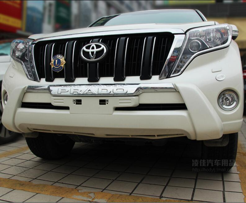 Jioyng краску abs переднего бампера протектор гвардии опорная плита для Toyota Land Cruiser Prado 2700/4000 FJ150 2014 2015 2016 2017 2018