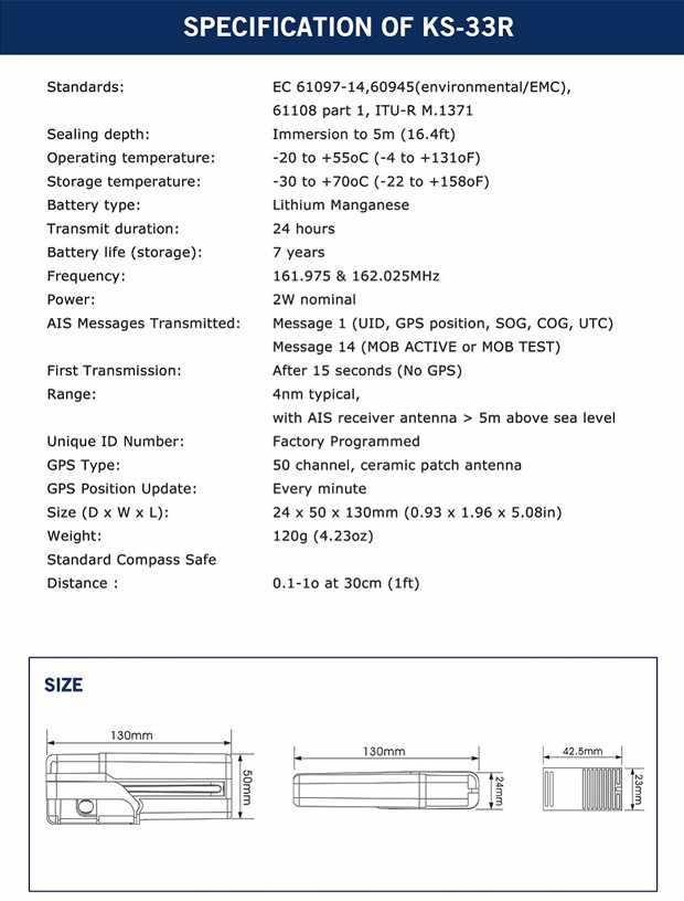 ONWA KS-33R AIS-MOB パーソナルロケータビーコントラッカー Smartfind AIS 暴徒