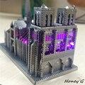 Китайский Металл Земля ICONX 3D Металл модель комплекты 9 дюймов Notre Dame de Paris 2 Листов Военная Nano Головоломки DIY Творческие подарки
