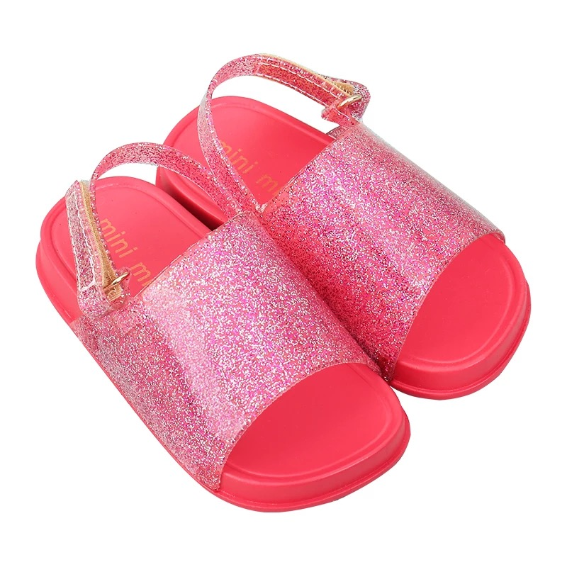 2019 Mini Melissa Girls boys Sandals Children s shoes mini melissa cartoon  Glitter sequins Princess Shoes Jelly soft sandalias-in Sandals from Mother    Kids ... 0092762c4cf0