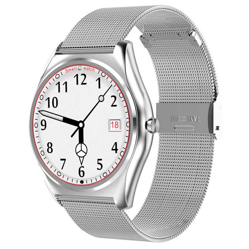 Smart Watch Sports Information Push Smartwatch Bluetooth Call Heart Rate Monitor Waterproof English Version Steel Strip Bracelet