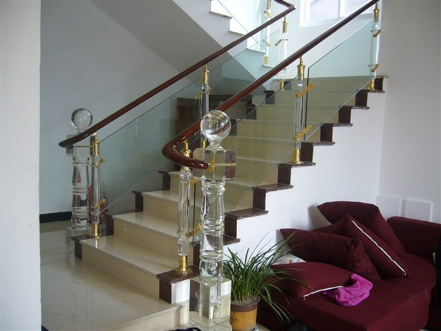 Continental Railing Fence Glass Crystal Staircase Handrail Crystal Hanging  Glass Staircase Handrail Fence Post