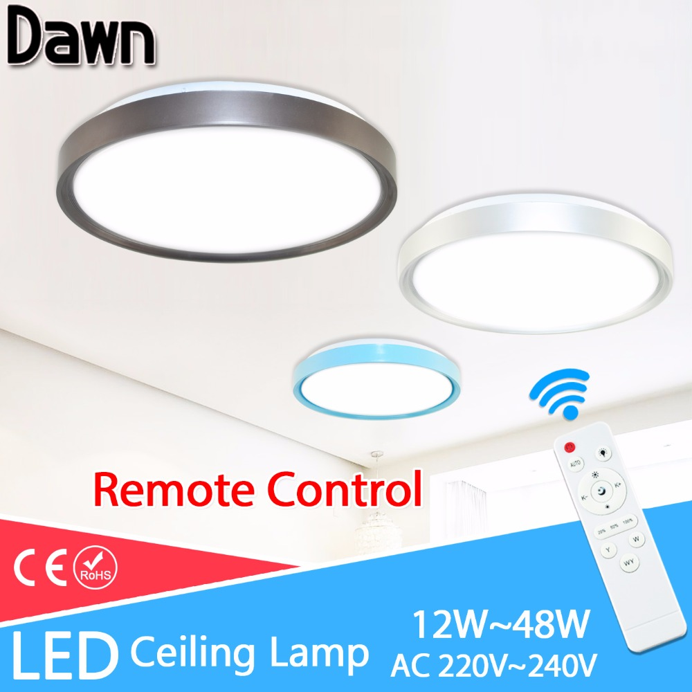 Skillful Knitting And Elegant Design Imported From Abroad Ultra Thin Ceiling Lights Ac 220v 240v 24w 36w 48w Led Ceiling Light Color Shell Remote Control Panel Lamp Fixture Living Room To Be Renowned Both At Home And Abroad For Exquisite Workmanship Ceiling Lights & Fans Lights & Lighting