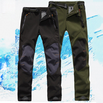 Men Winter Pants Waterproof Snow Ski Pants Thick Warm Soft Shell Pant Outdoor Camping Skiing Snowboard Sport Windproof Trousers
