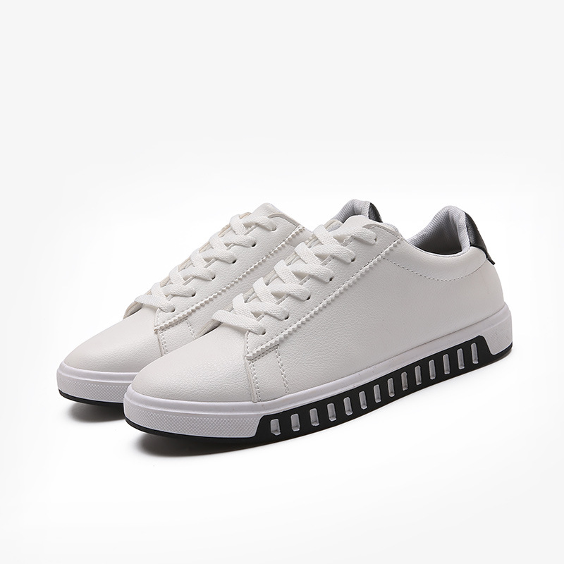 allmatch men shoes leather flat style low white vogue shoes help korean students shoes shock absorban