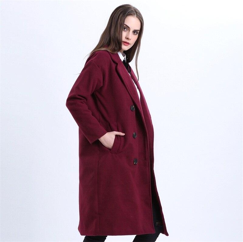 Znane H. SA Płaszcz Zimowy Kobiety Elegancki Długi Płaszcz Wełniany  MD-31