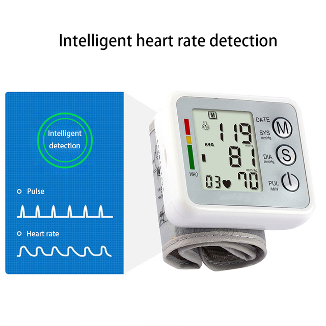 Fingertip Pulse Oximeter Medical Equipment Wrist Blood Pressure Monitor Infrared Body Thermometer Set Household Health Monitors 3