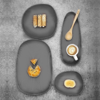 Concrete irregular oval tray silicone mold cement tray mold