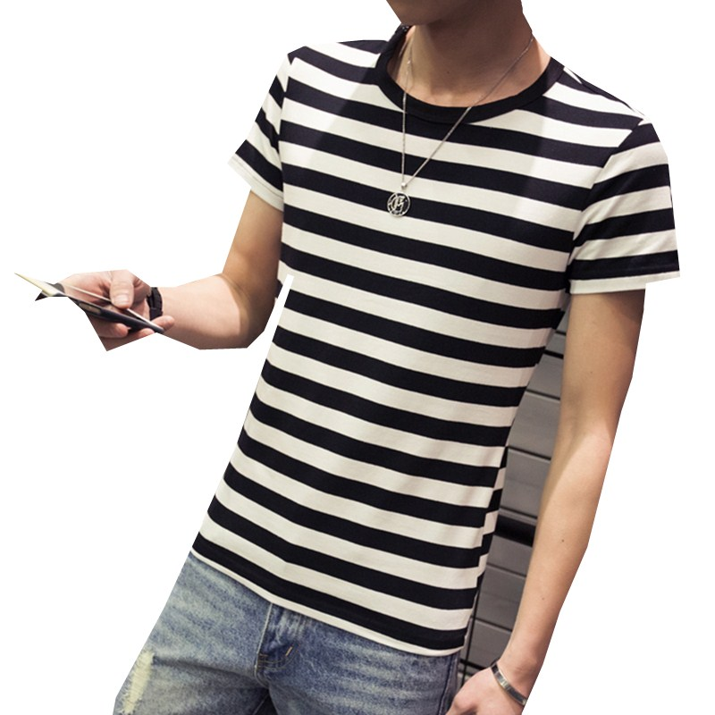 Black White Striped Shirt Mens | Artee Shirt