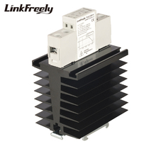 TRA23D60H 60A Integrated Heat Sink SSR Solid State Relay Din Rail DC AC 3V 5V 12V 24V 32VDC Input 24-280VAC Output Power Relays