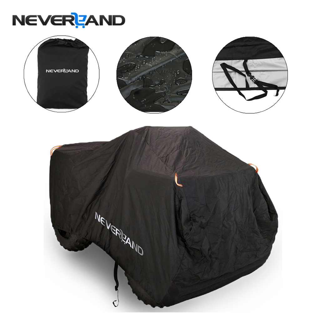 NEVERLAND 190T Waterproof Dustproof Anti-UV Quad Bike ATV Cover For Polaris Honda Yamaha Can-Am Suzuki Kawasaki Size M-XXXL D35 polaris am pilgrim