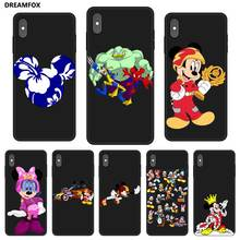 P121 Mickey Mouse Nobby Black Silicone Case Cover For Apple iPhone 11 Pro XR XS Max X 8 7 6 6S Plus 5 5S SE lavaza cartoon mickey mouse couple silicone case for iphone 5 5s 6 6s plus 7 8 11 pro x xs max xr
