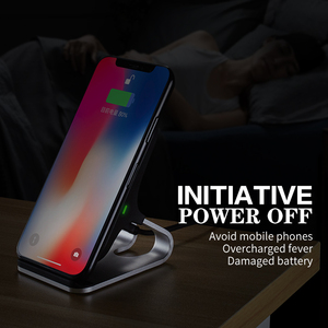 Image 3 - 10W Qi Wireless Charger For iPhone Xs Max Xr X for Samsung S10 S9 Intelligent Infrared Fast Wirless Charging Car Phone Holder