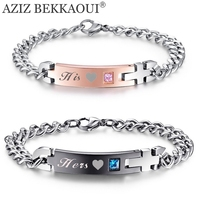 Drop Shipping Lover His Hers Stainless Steel Matching Couple Bracelets Stainless Steel Bracelets For Women Men
