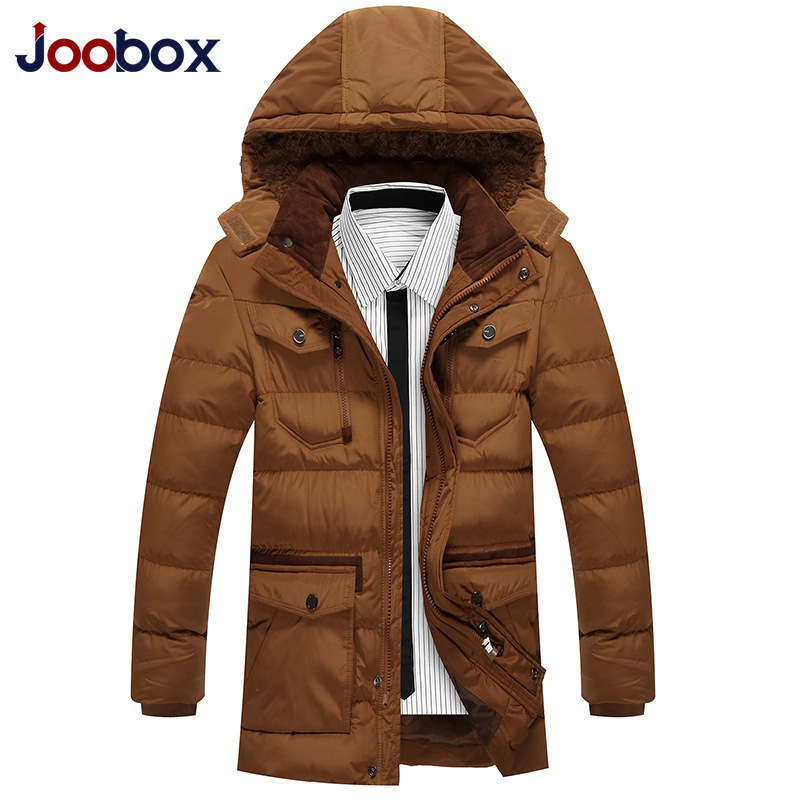 JOOBOX 2016 Winter Jacket Men Large Size Hooded Camperas Hombre Brand Clothing Winter Men New Warm