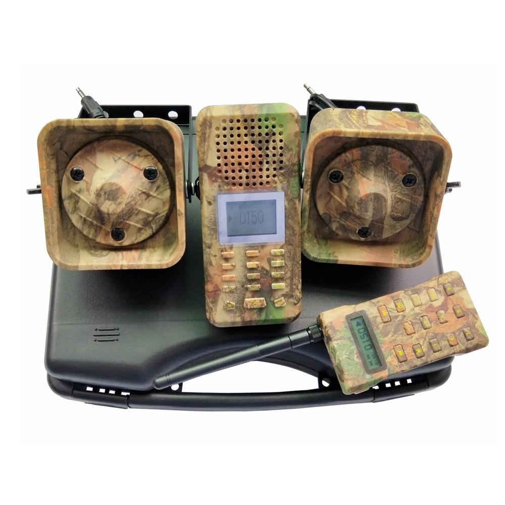 Chasse oiseau appelant haut-parleur 2 pièces 50 w 150dB haut-parleurs avec télécommande oiseau piège Mp3 amplificateur oie canard chasse leurre Camouflage