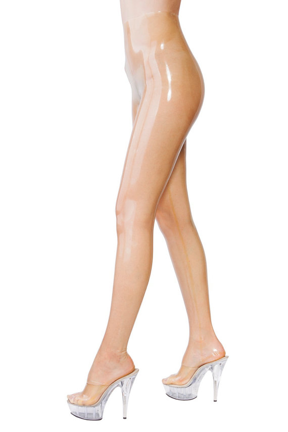 Collants en Latex transparents en Latex collants en Latex de haute qualité pour femmes avec pieds