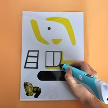 3D pen drawing template,it help kids to use pens 20 pages 40pcs templates