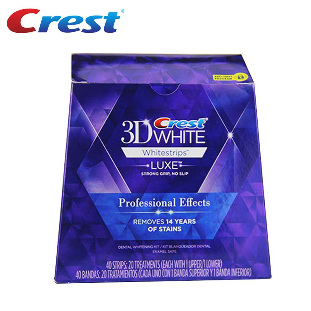 20 bolsa/Caixa ou 10 Bolsa/NoBox Efeitos Profissionais Whitestrips Crista 3D Dentes Gel Clareador De Dentes Higiene Oral tiras de clareamento