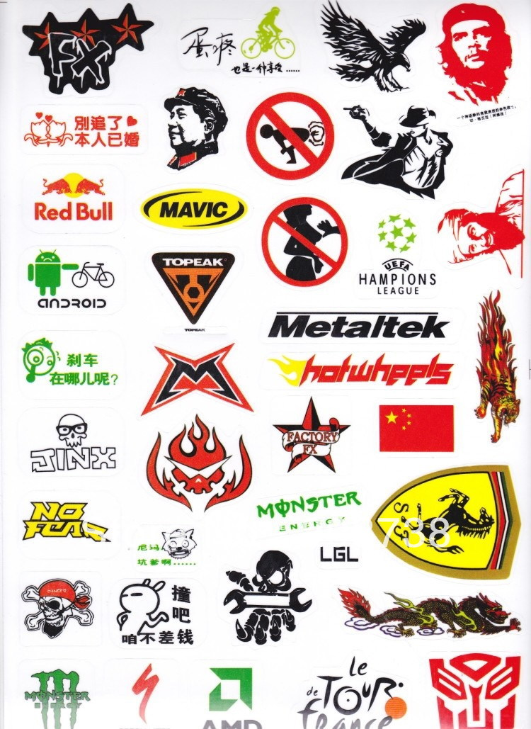 Moutain Bicycle Frame Stickers Bike Sticker Bicycle Brand Sticker