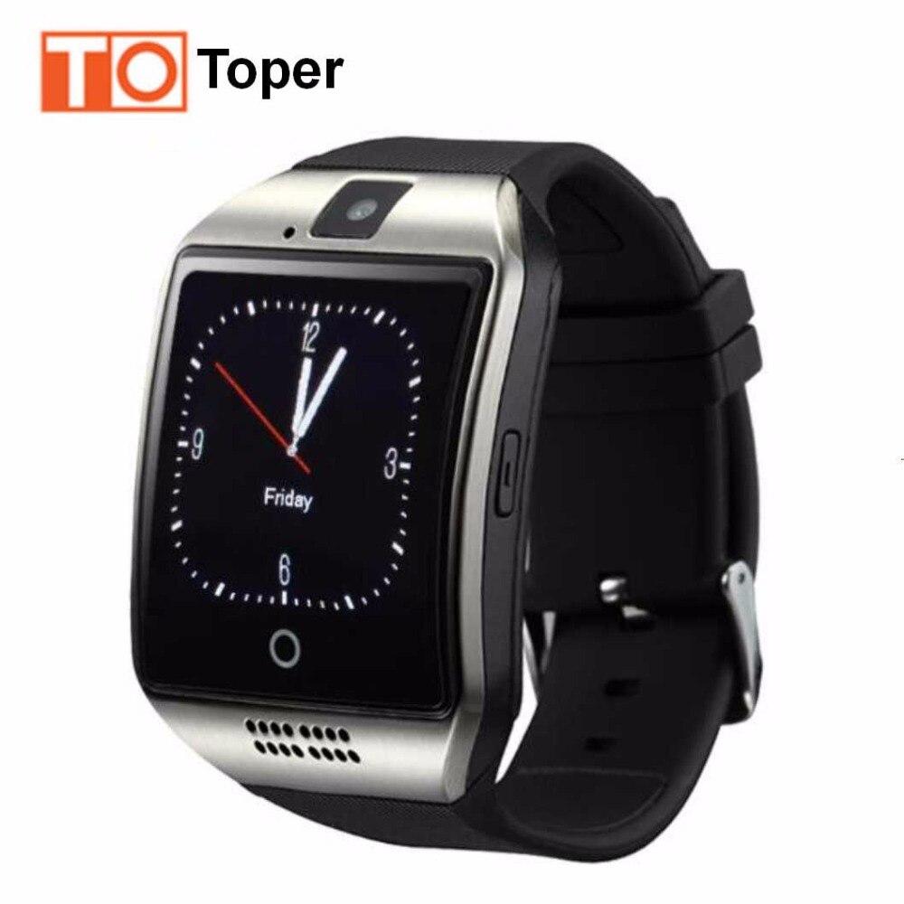 imágenes para Q18 Toper Moda Hombre Mujer Reloj Inteligente para Android IOS Apoyo Tarjeta SIM TF Smartwatch Bluetooth HD OGS Pulsera en Stock