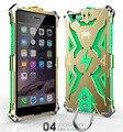 Thor de luxo camada dupla capa de silicone metal case para iPhone 6 / 6 s, Alumínio Original telefone manga para iphone6 plus / 6 s plus