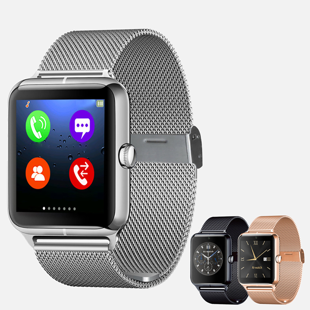 Fashion Z50 Bluetooth LED Watch Phone SIM GPRS NFC For Android IOS Samsung Skmei Relogio Masculino #1031