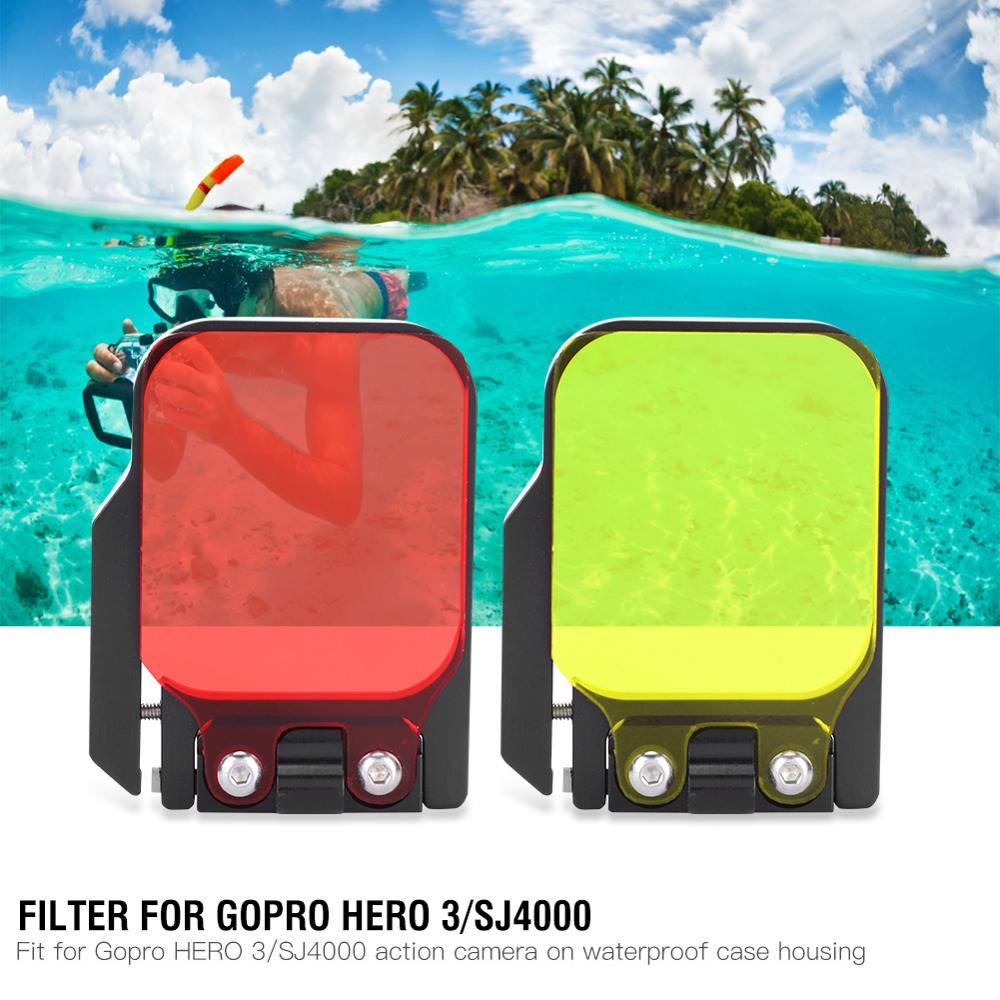 Yellow/Red Filter For Gopro HERO 3/SJ4000 Action Sport Camera