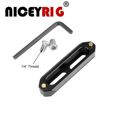 "NICEYRIG NATO Rail NATO Clamp Slide Rail Rig Nato Handle Rail Grip Rig DSLR Camera Cage Clamp Rig 1/4"" Stabilizer Cameras 70mm Pakistan"