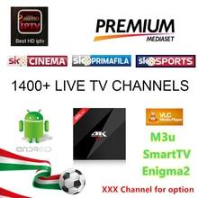 H96 Pro + Français IPTV 1400 + Canaux Européenne Europe Arabe FR Belgique ROYAUME-UNI IPTV En Direct TV Smart TV box Pour Android TV Box, Smart TV