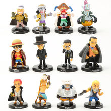 12pcs/set Anime One Piece Luffy Chopper Dracule Mihawk Going Merry Shanks PVC Action Figure Collectible Model Christmas Gift Toy(China)