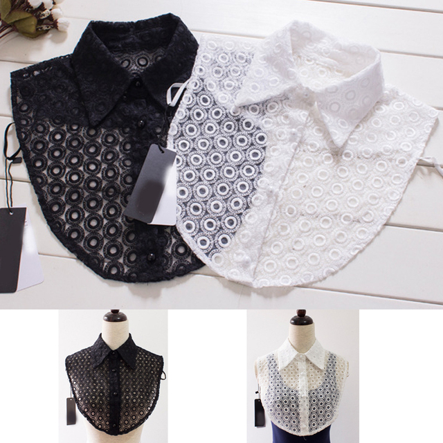 Fashion new summer apparel accessories lace crochet white shirt fake ...