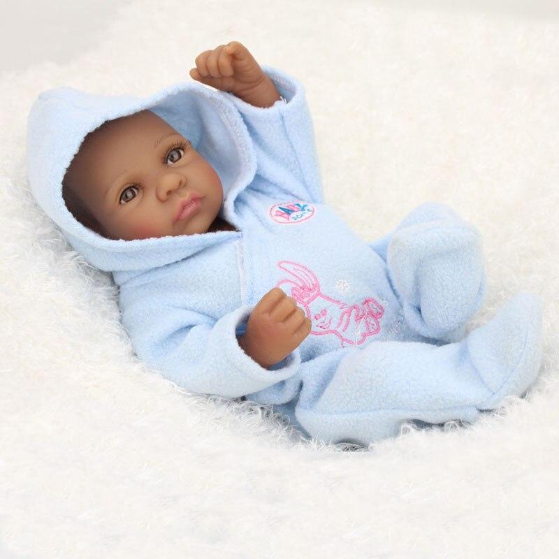 Reborn Baby Dolls African American Boy Vinyl Silicone Full Body 22 Inches Cute Realistic Black Baby Boy Anatomically Correct