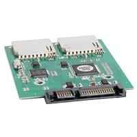 2 Port Dual SD SDHC MMC RAID To SATA Adapter Converter Support All SD Card L059