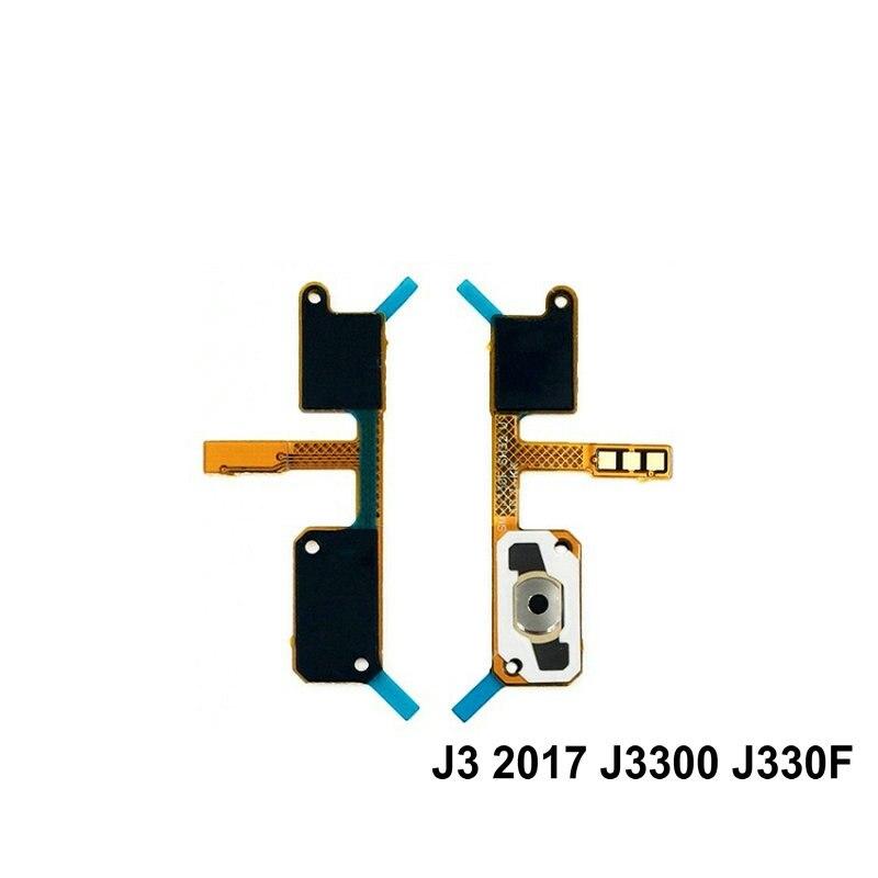 New Home Button Flex Cable Menu Return Key Repair Parts For Samsung J3 2017 J3300 J330F / J320 J320F J310 Phone