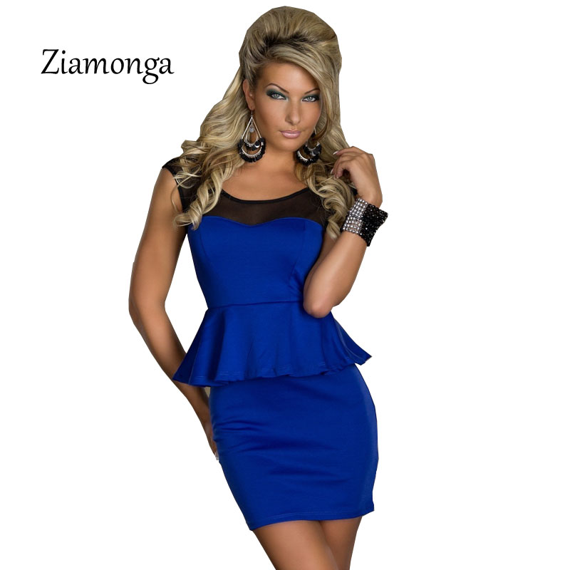 High Quality Blue Lace Patchwork Sexy Peplum Dresses Mini Bodycon Dress  Women Night Club Wear Summer Party Dress Clohting S0388-in Dresses from  Women s ... 636e67f88db6