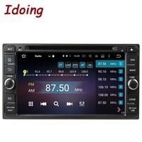 2Din Carro DVD Player Multimedya Idoing Fit Toyota Universal Direção-Roda de Navegação do GPS do Android Com Câmera MP3 Do Bluetooth OBD2