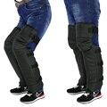 genuine leather Motorcycle Protective kneepad Sport Guard off road Motocross Warm Protector Gear Knee Pads motocicleta motorbike
