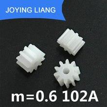 Шестерни 102A 0,6 M, 10-зубчатые, 2 мм, плотный штуцер, модуль 0,6, пластиковая шестерня, модель «сделай сам», игрушечные аксессуары 5000 шт./лот
