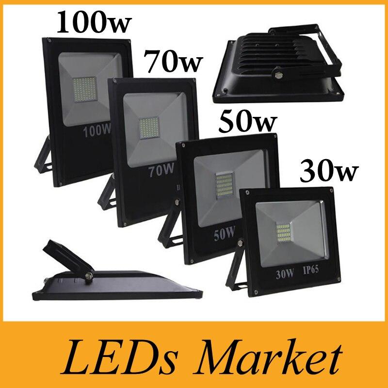 Outdoor Lighting Floodlights Hot Sales 10w 20w 30w 50w 70w 100w Outdoor Waterproof Led Floodlights Warm/cool White Ip65 Led Flood Lights 85-265v Ce Ul