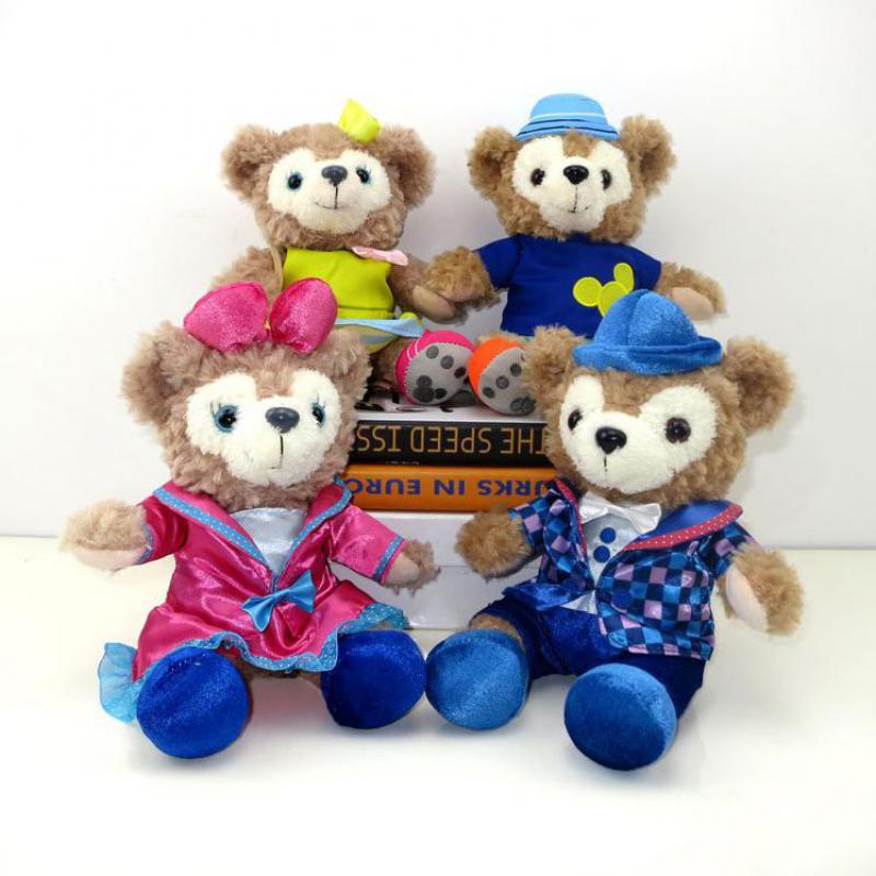 23cm 4pcs/set Duffy Bear Shelliemay Rose Plush Toys Teddy Bear Soft Stuffed Animals Dolls For Girls Children Kids Birthday Gifts цена