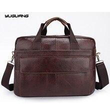 Genuine Leather Bag Men Fashion Leather Men's Briefcase Laptop Handbags Male Bag Men Messenger Bags Shoulder Crossbody Bags